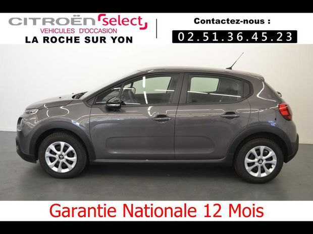 Photo miniature de la Citroën C3 PureTech 82ch Feel S&S E6.d 2019 d'occasion