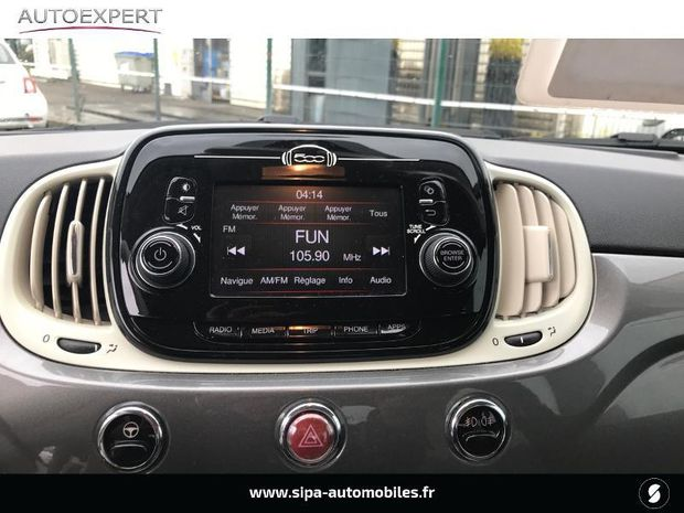 Photo miniature de la Fiat 500 C 1.2 8v 69ch Lounge 2018 d'occasion