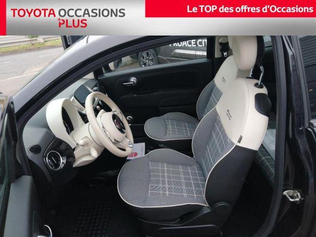 Photo miniature de la Fiat 500 1.2 8v 69ch Eco Pack Lounge Euro6d 2019 d'occasion