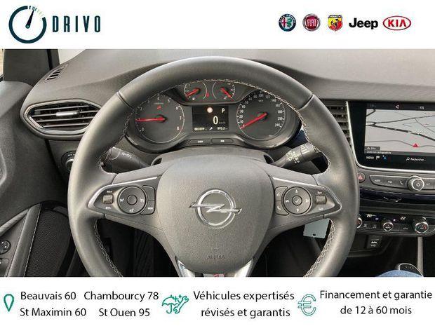 Photo miniature de la Opel Crossland X 1.2 Turbo 130ch Design 120 ans BVA Euro 6d-T 2019 d'occasion