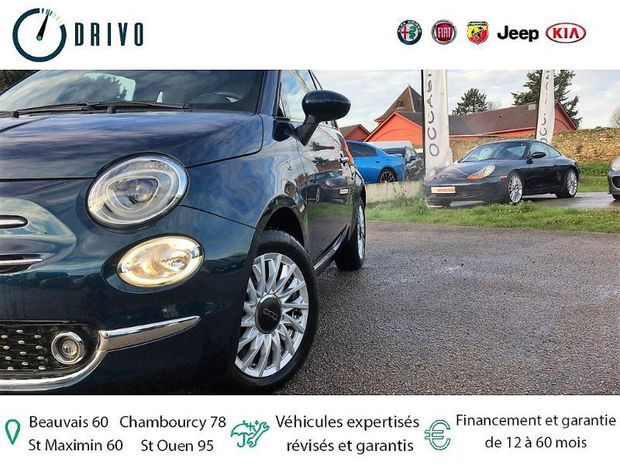 Photo miniature de la Fiat 500 1.2 8v 69ch Lounge 2018 d'occasion