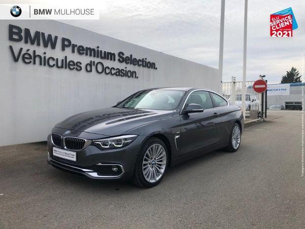 Photo miniature de la BMW Serie 4 Coupe 420dA xDrive 190ch Luxury Euro6c GPS Camera Sieges Chauf LED HUD 2019 d'occasion