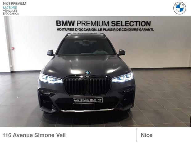 Photo miniature de la BMW X7 40dA xDrive 3400ch Dark Shadow 2021 d'occasion