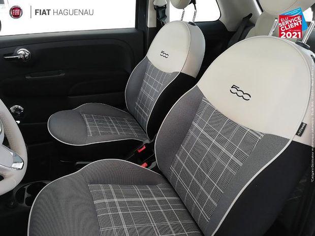 Photo miniature de la Fiat 500 1.2 8v 69ch Lounge Toit pano Regulateur Radar Bluetooth Clim manu 2018 d'occasion