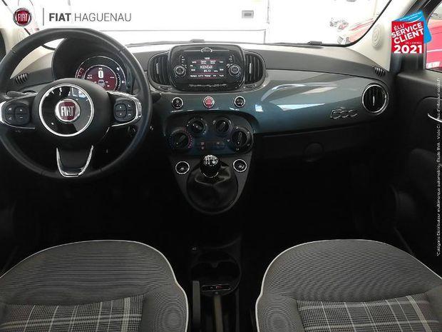 Photo miniature de la Fiat 500 1.2 8v 69ch Eco Pack Lounge TPano Radar AR 2019 d'occasion