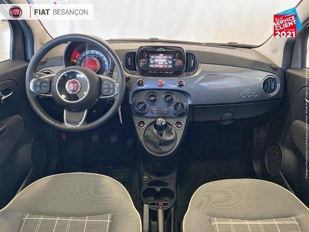 Photo miniature de la Fiat 500 1.2 8v 69ch Lounge 1ere main TPano 2019 d'occasion
