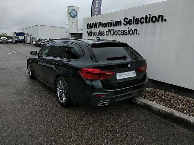 Photo miniature de la BMW Serie 5 Touring 520dA 190ch M Sport Steptronic Touvrant pano Cuir GPS Live cockpit Palettes HUD 2020 d'occasion