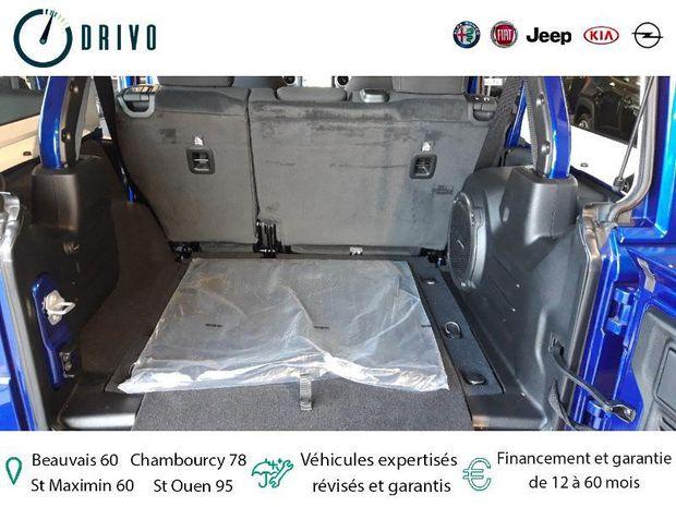 Photo miniature de la Jeep Wrangler 2.0 T 272ch Unlimited Sahara Command-Trac BVA8 2020 d'occasion