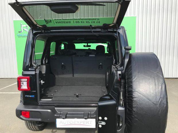 Photo miniature de la Jeep Wrangler 2.0 T 380ch Sahara 4xe Command-Trac BVA8 2021 d'occasion