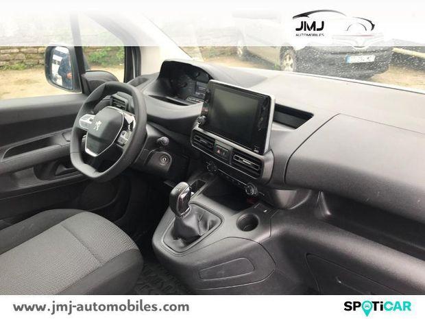Photo miniature de la Peugeot Partner Long 950kg BlueHDi 100ch S&S Asphalt 2019 d'occasion